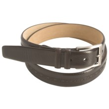 Mezlan Tumbled Italian Calfskin Belt (For Men) in Brown - Closeouts