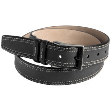 Mezlan Two-Tone Belt - Leather (For Men) in Black - Closeouts