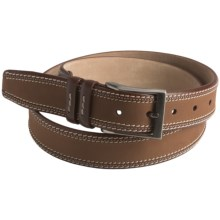 Mezlan Two-Tone Belt - Leather (For Men) in Cognac - Closeouts
