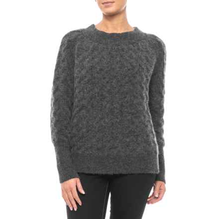 Mia Mia Made in Italy Small Cable-Knit Sweater (For Women) in Charcoal - Closeouts