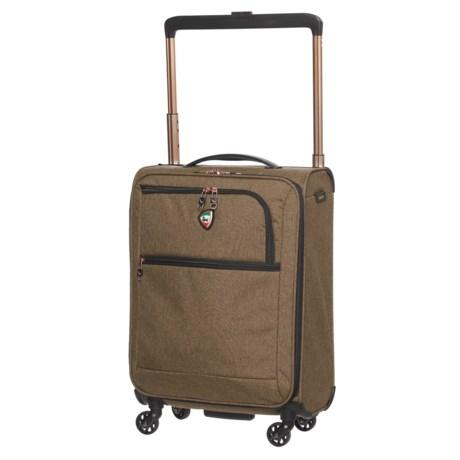 "Mia Toro 20"" Kitelite Cirro Spinner Suitcase - Softside in Brown"