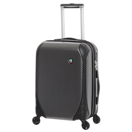 "Mia Toro Fibre di Carbonio Largo Spinner Suitcase - Hardside, 25"" in Black"