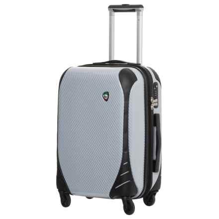 """Mia Toro Fibre di Carbonio Largo Spinner Suitcase - Hardside, 25"""" in White - Closeouts"""