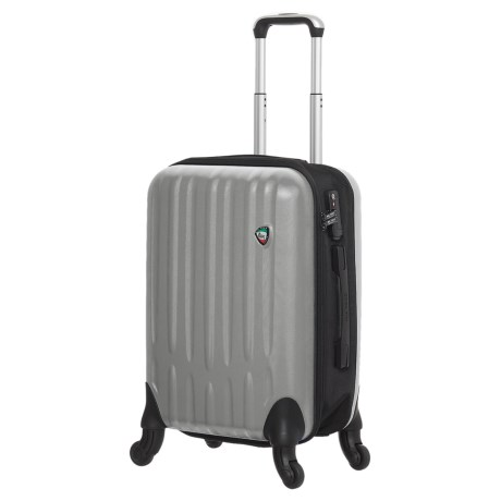 "Mia Toro Piega Spinner Suitcase - Hardside, 24"" in Silver"