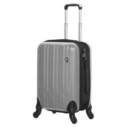 "Mia Toro Piega Spinner Suitcase - Hardside, 28"" in Silver - Closeouts"