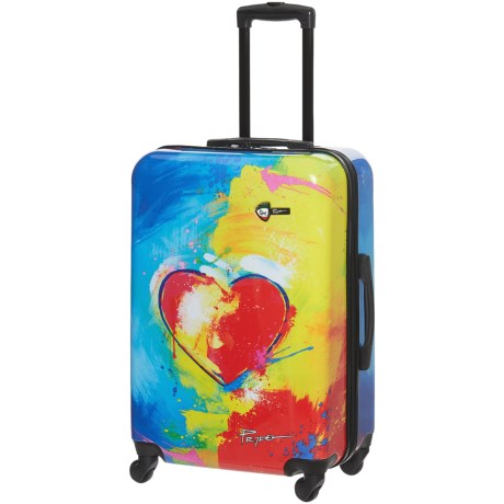 "Mia Toro Prado Spinner Suitcase - Hardside, 24"" in In Love Print"