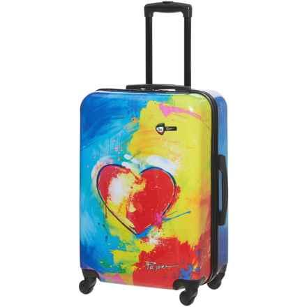 "Mia Toro Prado Spinner Suitcase - Hardside, 28"" in In Love Print - Closeouts"