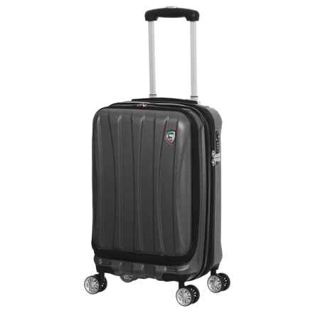 "Mia Toro Tasca Fusion Spinner Carry-On Suitcase - Hardside, 20"" in Black - Closeouts"
