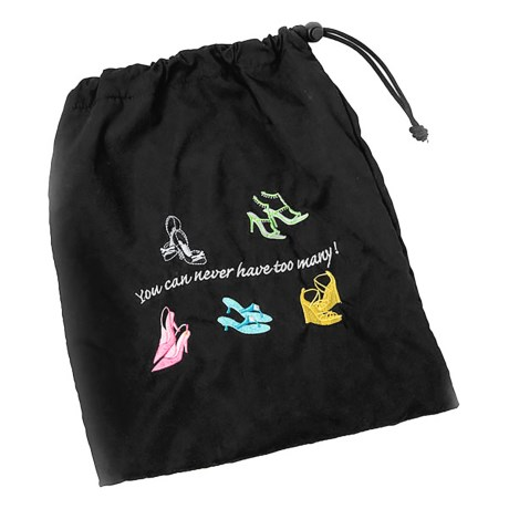"Miamica ""You Can Never Have Too Many"" Shoe Bag in Black"