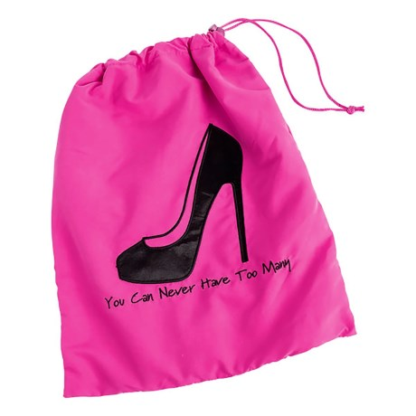 "Miamica ""You Can Never Have Too Many"" Shoe Bag in Fuchsia"