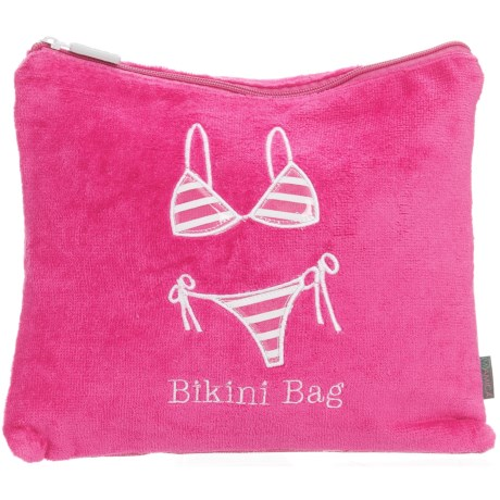 "Miamica Bikini Bag with Swimsuit Compartment - 9.5x11"" in Fuchsia"