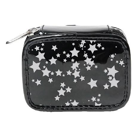 Miamica Black Star Travel Pill Case - 8 Compartments in Black
