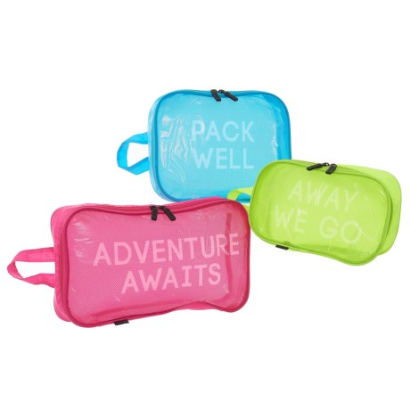 Miamica Brights Packing Cubes - 3-Piece in Neon