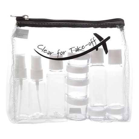 Miamica Clear For Take-Off Bottle Kit - 15-Piece in Black
