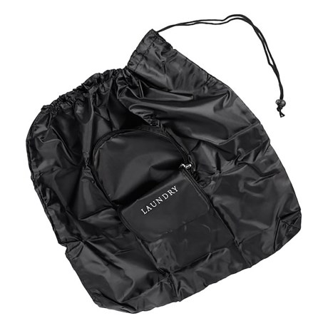 Miamica Expandable Laundry Bag in Black
