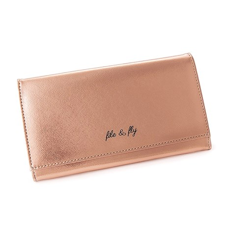 "Miamica Saffiano File and Fly Document Organizer - 5x9"" in Rose Gold"