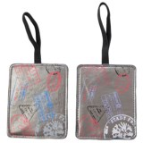 Miamica Silver Stamp Luggage Tags - Set of 2