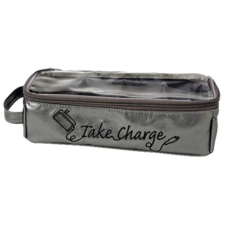 Miamica Take Charge Electronics Organizer Case in Silver