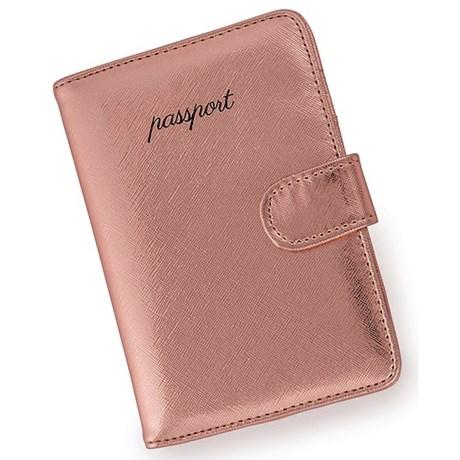 Miamica Upgrade Me Metallic Passport Case in Rose Gold