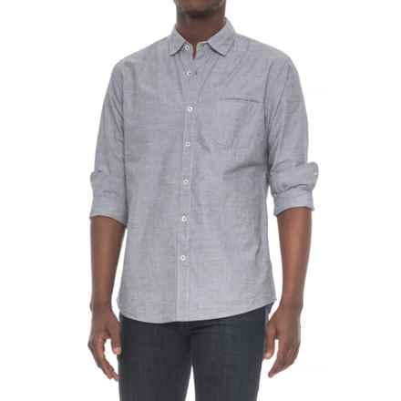 Michael Brandon End-on-End Shirt - Long Sleeve (For Men) in Black - Overstock