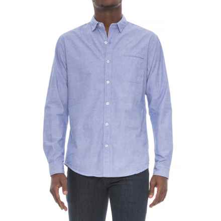 Michael Brandon End-on-End Shirt - Long Sleeve (For Men) in Blue - Overstock