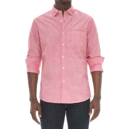 Michael Brandon End-on-End Shirt - Long Sleeve (For Men) in Red - Overstock