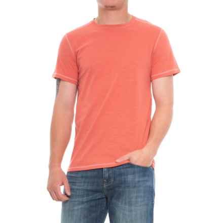 Michael Brandon Essential Slub T-Shirt - Crew Neck, Short Sleeve (For Men) in Apricot - Overstock
