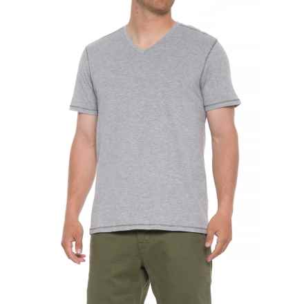 Michael Brandon Heathered T-Shirt - V-Neck, Short Sleeve (For Men) in Light Grey Heather - Overstock