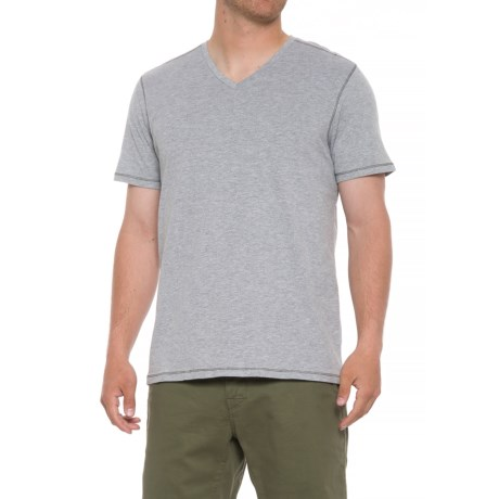 Michael Brandon Heathered T-Shirt - V-Neck, Short Sleeve (For Men) in Light Grey Heather