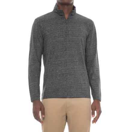 Michael Brandon Marled Shirt - Zip Neck, Long Sleeve (For Men) in Black - Closeouts