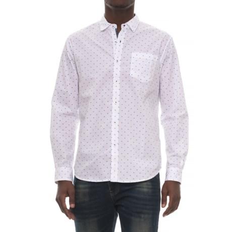 Michael Brandon Printed Woven Shirt - Long Sleeve (For Men) in White
