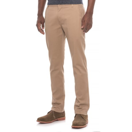 Michael Brandon Slim Straight Stretch Chino Pants (For Men) in Tan