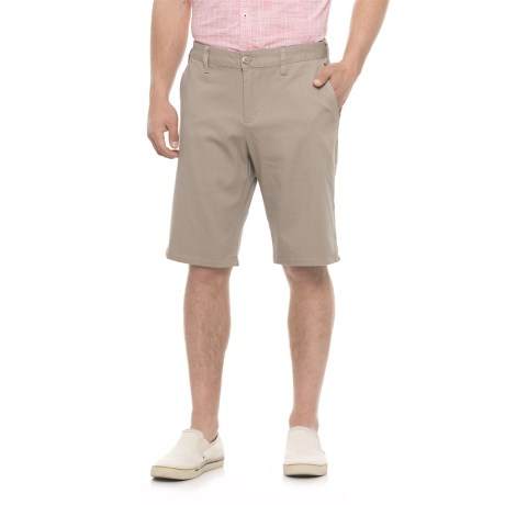 Michael Brandon Stretch Twill Shorts (For Men) in Sand
