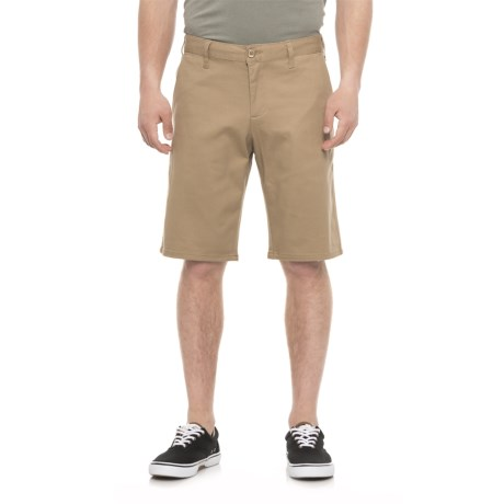 Michael Brandon Stretch Twill Shorts (For Men) in Tan