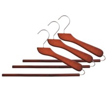 Michael Graves Non-Slip Slacks Hangers - Wood, 3-Pack in Cherry Mahogany - Closeouts