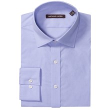 Michael Kors Solid Dress Shirt - Long Sleeve (For Men) in Mineral Blue - Closeouts
