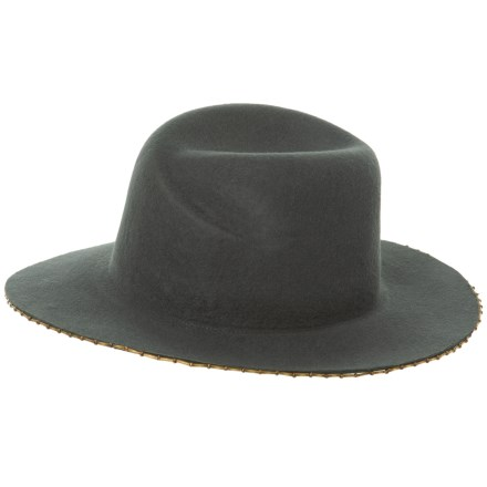 5ff64e1ed0d Michael Stars Bead It Wool Fedora Hat with Wide Beaded Brim (For Women) in