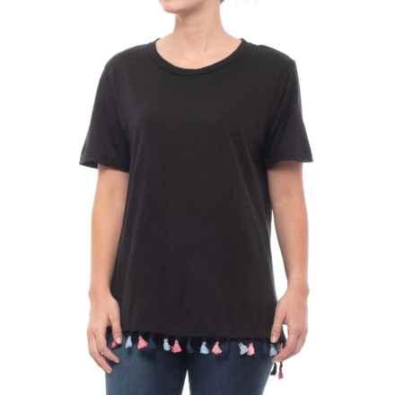 Michael Stars Boyfriend T-Shirt - Short Sleeve (For Women) in Black - Closeouts