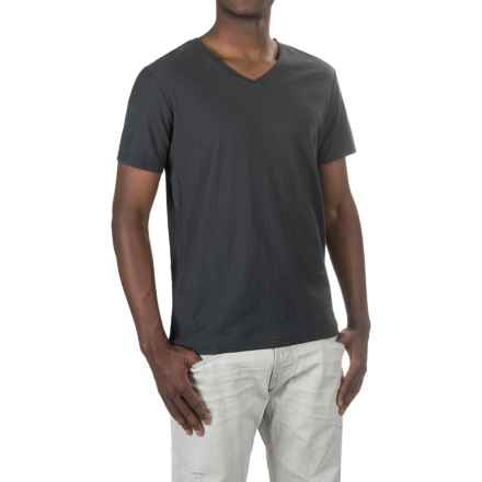 Michael Stars Cotton Slub T-Shirt - V-Neck, Short Sleeve (For Men) in Oxide - Closeouts
