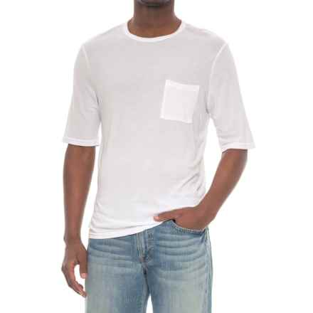 Michael Stars Crew Neck Pocket T-Shirt - Short Sleeve (For Men) in White - Closeouts