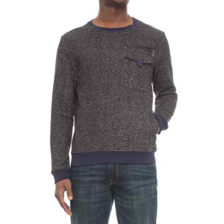Michael Stars Crew Neck Sweater (For Men) in Black/Heather Grey - Closeouts