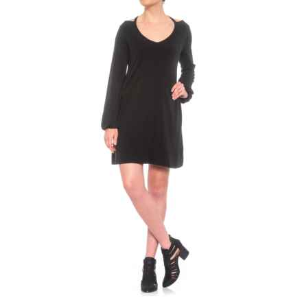 Michael Stars Cutout Detail Dress - Long Sleeve (For Women) in Black - Closeouts