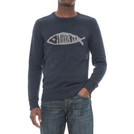 Michael Stars Fish Graphic Sweater (For Men) in Navy - Closeouts