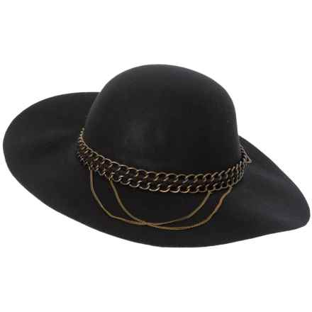 a4ac386512f609 Michael Stars Floppy Wool Felt Hat with Mixed Metal Chain Hatband (For Women)  in