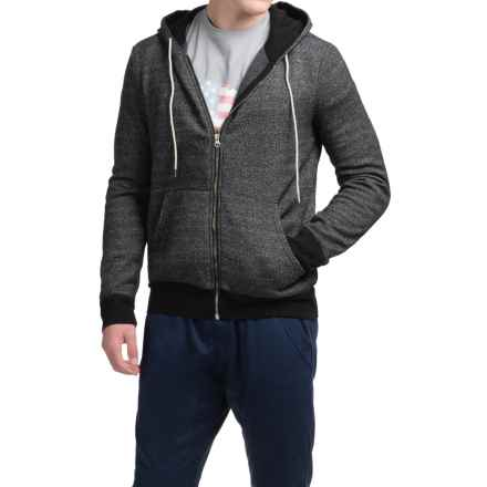Michael Stars French Terry Hoodie - Full Zip (For Men) in Black - Closeouts
