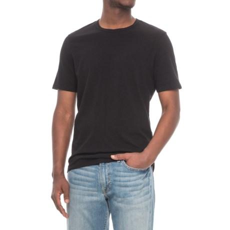 Michael Stars Linen Jersey T-Shirt - Short Sleeve (For Men) in Black