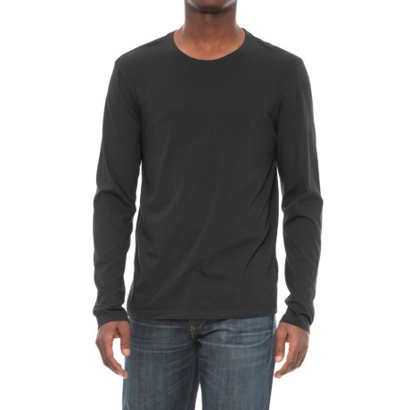 Michael Stars Pacific Cotton T-Shirt - Long Sleeve (For Men) in Black