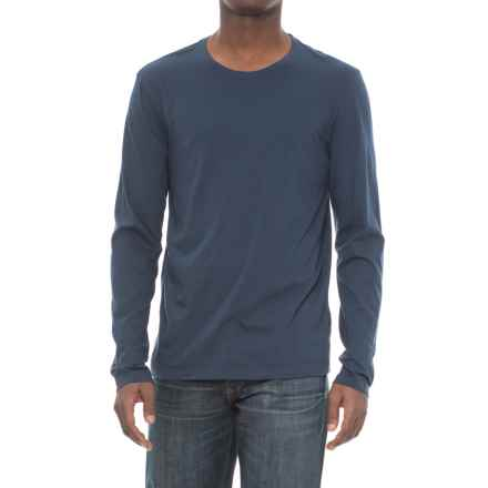 Michael Stars Pacific Cotton T-Shirt - Long Sleeve (For Men) in Nocturnal - Closeouts