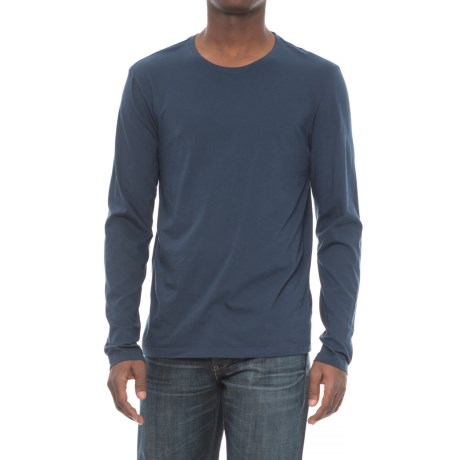Michael Stars Pacific Cotton T-Shirt - Long Sleeve (For Men) in Nocturnal