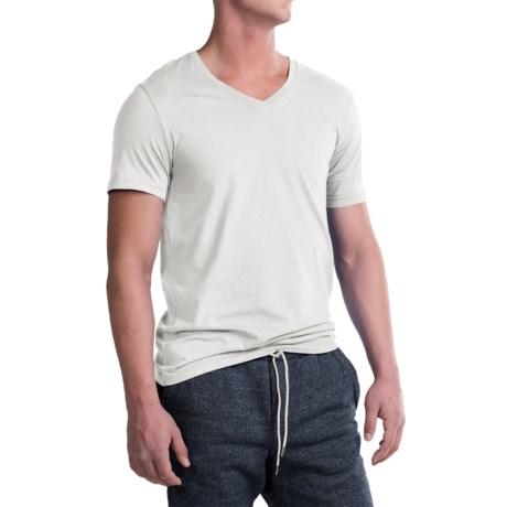 Michael Stars Pacific Cotton T-Shirt - V-Neck, Short Sleeve (For Men) in White